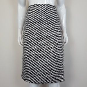 NEW Ann Taylor Black & White Woven Pencil Skirt